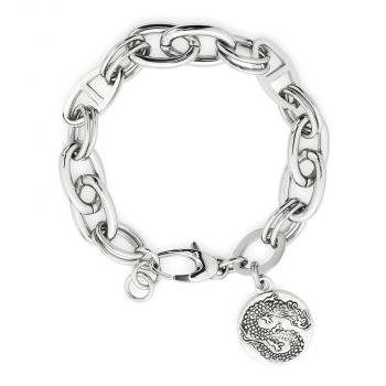 Leonardo Damen Herren Armband 015422 Armband Present P1 Drachenkopf Gothic