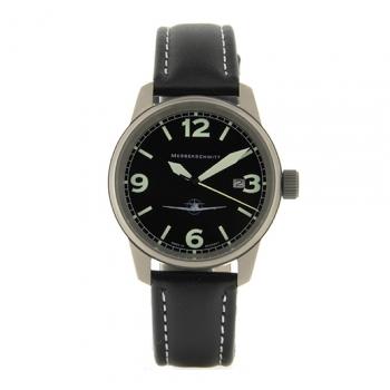 Messerschmitt Herrenuhr 108-M Uhr Armbanduhr Fliegeruhr Titan