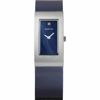 Bering Damenuhr 10817-307 Dunkelblau Silber Uhr Damen Classic Armbanduhr