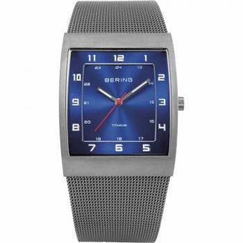 Bering Herrenuhr 11233-078 Graun Titan Uhr Antiallergisch Armbanduhr