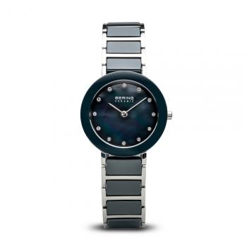 Bering Damenuhr 11429-787 Keramik Uhr Silber Armbanduhr Uhr Ceramic