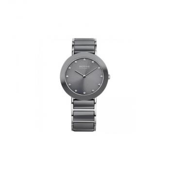 Bering Damenuhr 11435-789 Ceramic Grau Uhr Armbanduhr