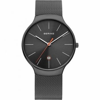 Bering Herren Armband 13338-077 Silber Grau Uhr Classic Armbanduhr
