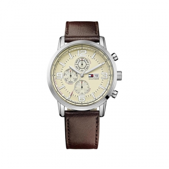 TommyHilfiger Herrenuhr 1710337 Armbanduhr Multifunktionsuhr Gabe dual time