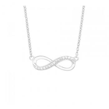 s.Oliver Damen Kette 2012527 Halskette Unendlich Infinity Schmuckkette