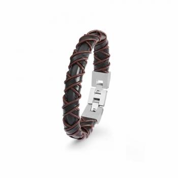 s.Oliver Herren Armband 2022617 Armkette Herrenarmband Lederarmband Leder
