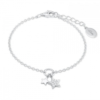 s.Oliver Damen Armband 2022698 Silber Armkette Schmuckarmband Stern