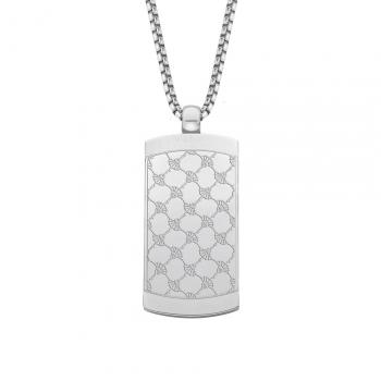 Joop Herren Kette 2024503 Halskette DogTag Kette mit Anhänger Silber