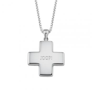 Joop Damen Kette 2024526 Halskette mit Anhänger Silber Halsschmuck Kreuz