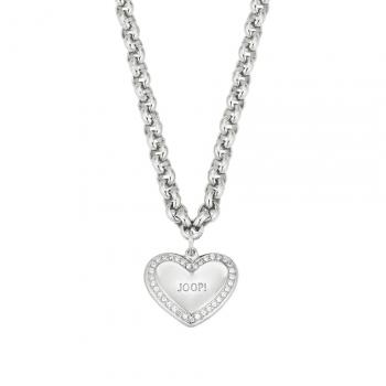Joop Damen Kette 2024891 Halskette mit Anhänger Silber Halsschmuck Herz