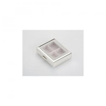 2266ver Pillenbox Pillendose Tablettendose Medikamente 4 Fächer Silber