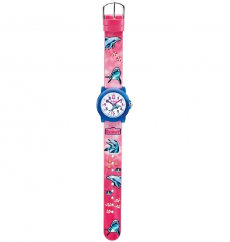 Scout Kinderuhr 280305022 Crystal Uhr Mädchenuhr Lernuhr Delfin Wasser Fisch