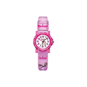 Scout Kinderuhr 280375000 The It-Collectionl Kinder Uhr Mädchenuhr Pferd Pony