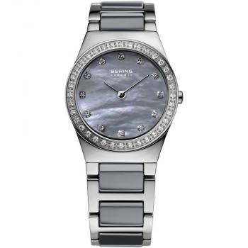 Bering Damenuhr 32426-789 Part Ceramic grau Uhr Silber Armbanduhr