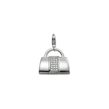 Esprit Anhänger Charms Silber Tasche Kettenanhänger Handtasche