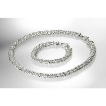 Look Damen Kette 79177-01-Set Halskette mit Armband Silber Schmuckgarnitur