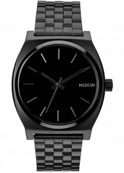 Nixon Herrenuhr A045-001 Time Teller Black Unisex Silber schwarz Uhr