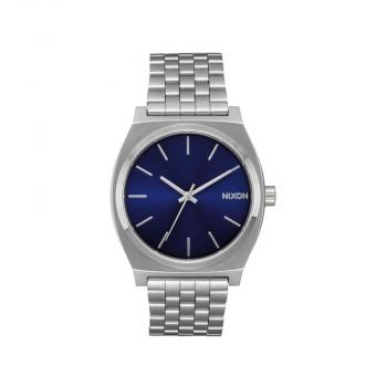 Nixon Herrenuhr A045-1258 Time Teller Blue Sunray Unisex Silber Uhr