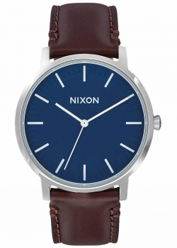 Nixon Herrenuhr A1058-879 Porter Leather Navy Brown Leder Uhr