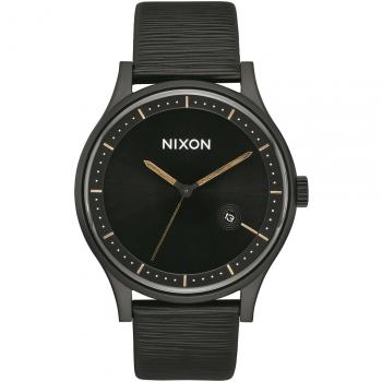 Nixon Herrenuhr A1161-2987-00 Station Leather Leder Unisex Uhr Armbanduhr
