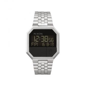 Nixon Herrenuhr A158-000 Re-Run All Black Digital Uhr LCD Retro