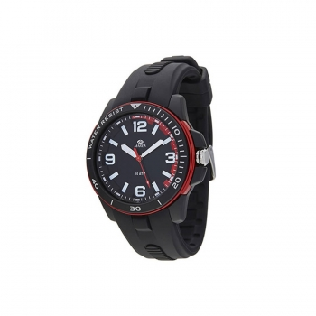 MAREA Herrenuhr B25144-1- Uhr Armbanduhr Schwarz Rot Sport