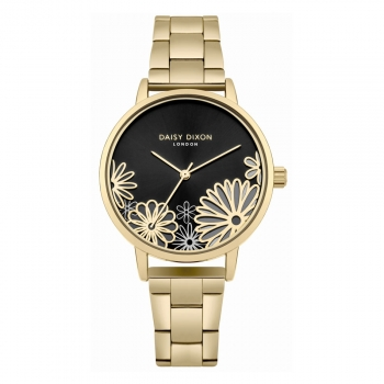 Daisy Dixon London Damenuhr DD087BGM Laura Armbanduhr Uhr Gold Blume