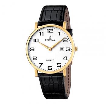 Festina Herrenuhr F16478-1 Business Uhr Gold Armbanduhr