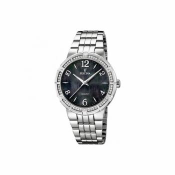 Festina Damenuhr F16703-2 Silber Perlmutt Damen Uhr Armbanduhr