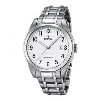 Festina Herrenuhr F16884-1 Automatik Uhr Silber Armbanduhr Herren