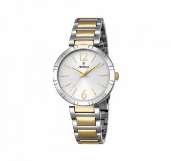 Festina Damenuhr F16937-1 Damen Uhr Silber Gold Bicolor Armbanduhr