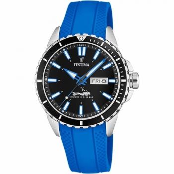 Festina Herrenuhr F20378-3 The Originals Taucheruhr Diver Armbanduhr Chrono Uhr Blau