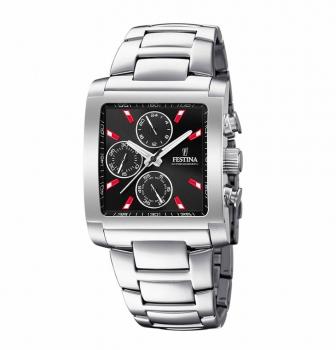 Festina Herrenuhr F20423-8 Chronograph Armbanduhr Uhr Rot Chrono