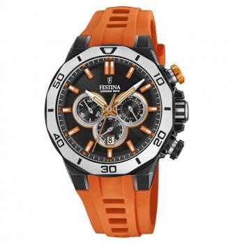 Festina Herrenuhr F20450-2 Chrono Bike Chronograph Armbanduhr Uhr Orange