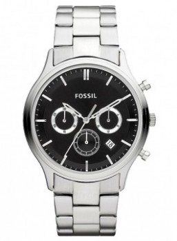 Fossil Herrenuhr FS4642- Silber Business Chrono Sport