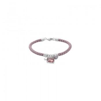 Fossil Damen Armband JF17100 Seidenband Flieder Silber
