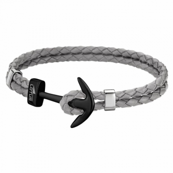 Lotus Damen Armband LS1832-2-8 Herren Lederarmband Anker Unisex Leder