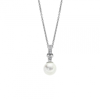 Lotus Damen Kette LS1853-1-1 Style Collier Perle Silber Schmuckkette Halskette