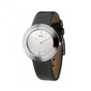 M&M Damenuhr M11828-452 BEST BASIC Leder Silber Uhr