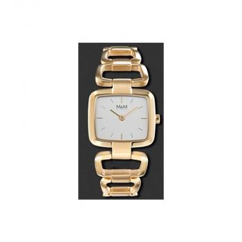 M&M Damenuhr M11882-232 Chainy Gold Damen Uhr Neuheit