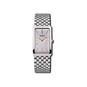 M&M Damenuhr M11902-192 Damen Uhr Silber Neuheit