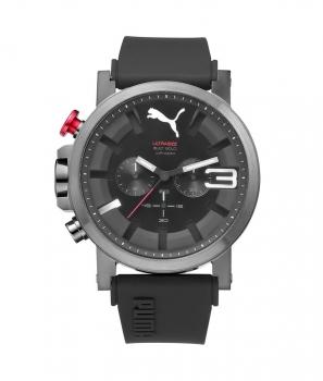 Puma Herrenuhr PU103981004 TIme Ultrasize Chrono Uhr Black Grau