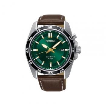 Seiko Herrenuhr SKA791P1 Armbanduhr Automatik Kinetic Uhr Sports Grün