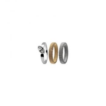 Skagen Damenring SKJ0037 3- teilig Gold GR. 17 Neuheit