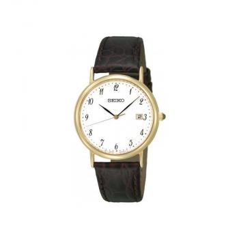 Seiko Herrenuhr SKK700P1 Armbanduhr Leder Herren Uhr