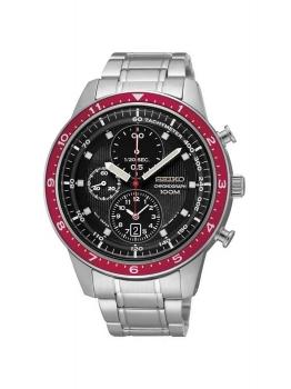 Seiko Herrenuhr SNDF37P1 Chronograph Uhr Silber 7T92