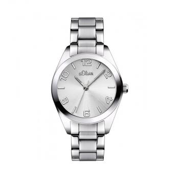 s.Oliver Damenuhr SO-2489-MQ Armbanduhr Silber Uhr Neueheit