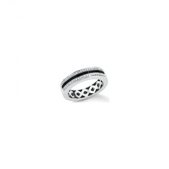 s.Oliver Damenring SO734 Silber schwarz Ring Neuheit