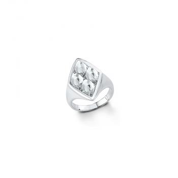 s.Oliver Damenring SO972 Silber Ring Gr 56 Schmuck