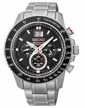 Seiko Herrenuhr SPC137P1 Armbanduhr Sportura Chronograph